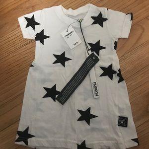 NUNUNU GIRLS T SHIRT DRESS 0-6 M